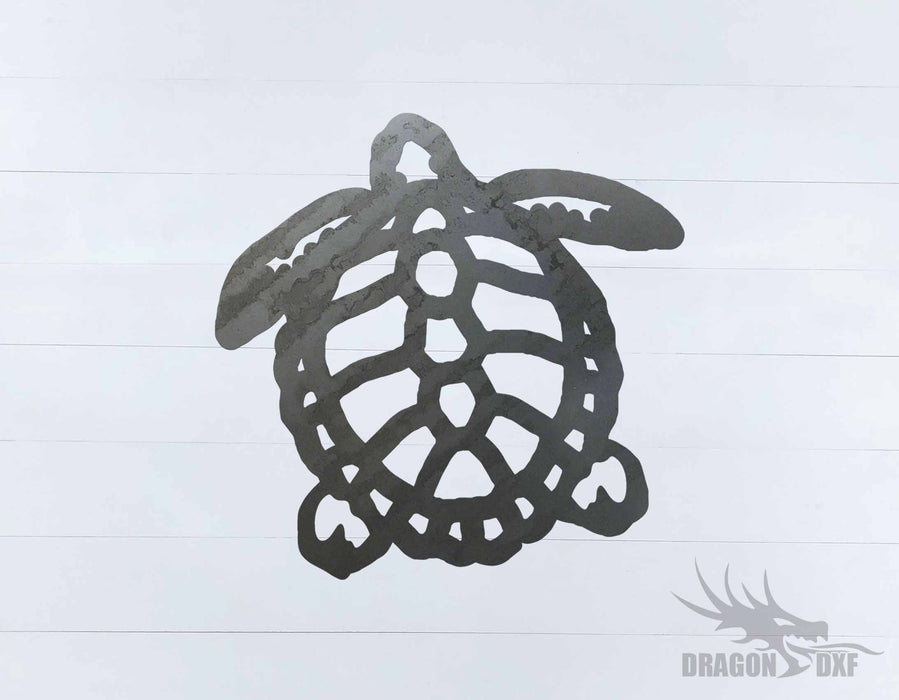 Sea Turtle 9 - DXF Download