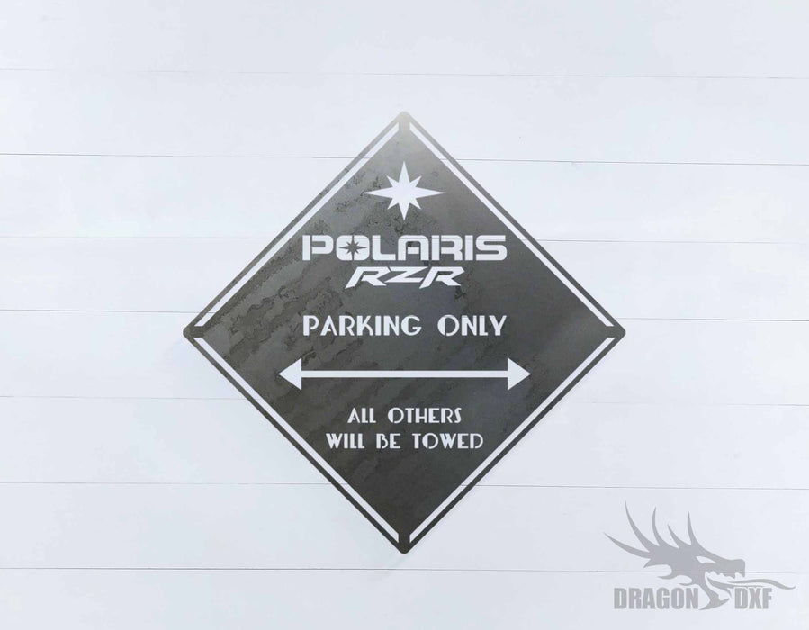 Side by Side Parking Sign 2 - DXF Download