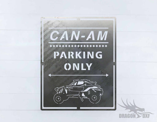 Side by Side Parking Sign 4 - DXF Download