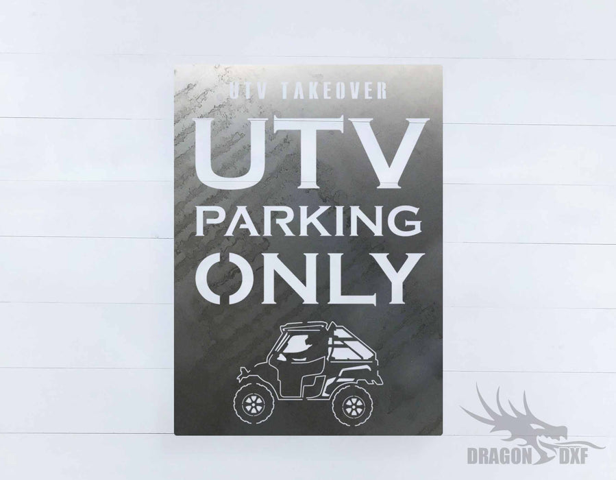 Side by Side Parking Sign 6 - DXF Download