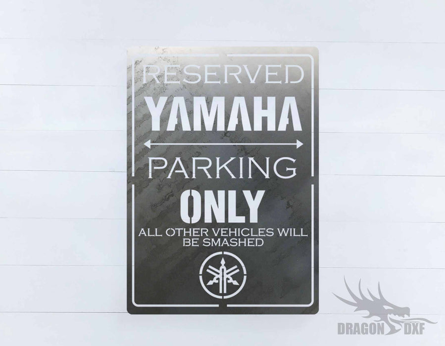 Side by Side Parking Sign 7 - DXF Download