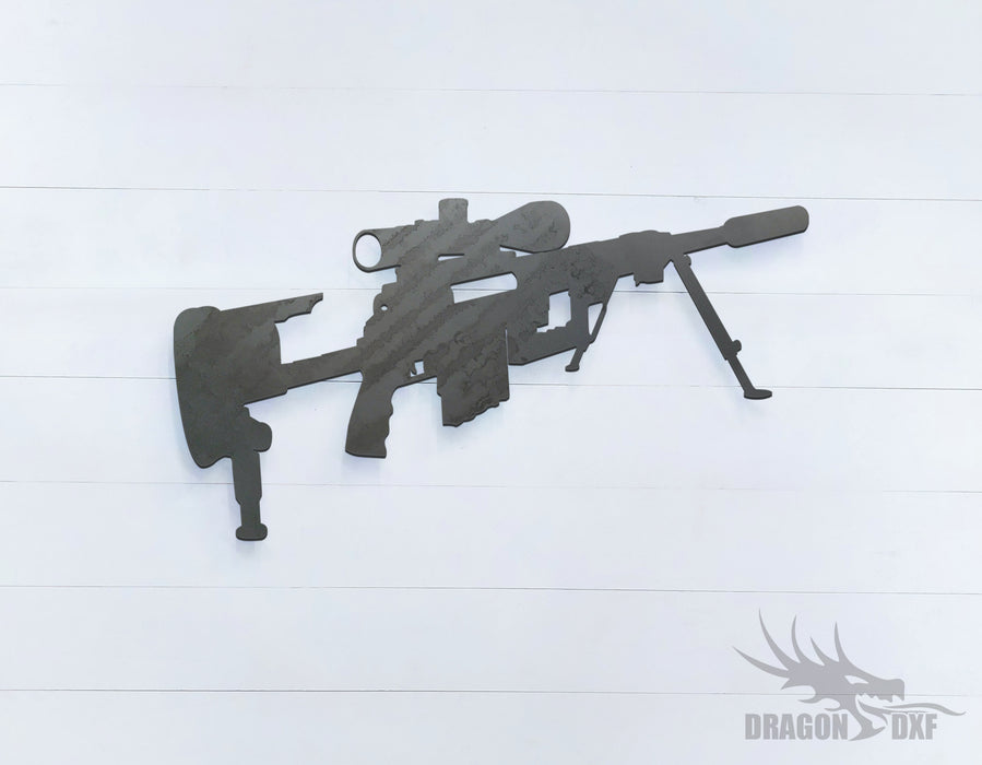 Sniper Rifle-04 - DXF Download