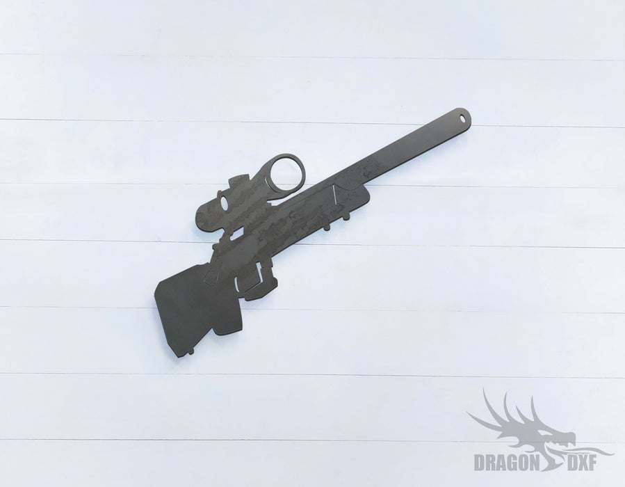 Sniper Rifle-10 - DXF Download