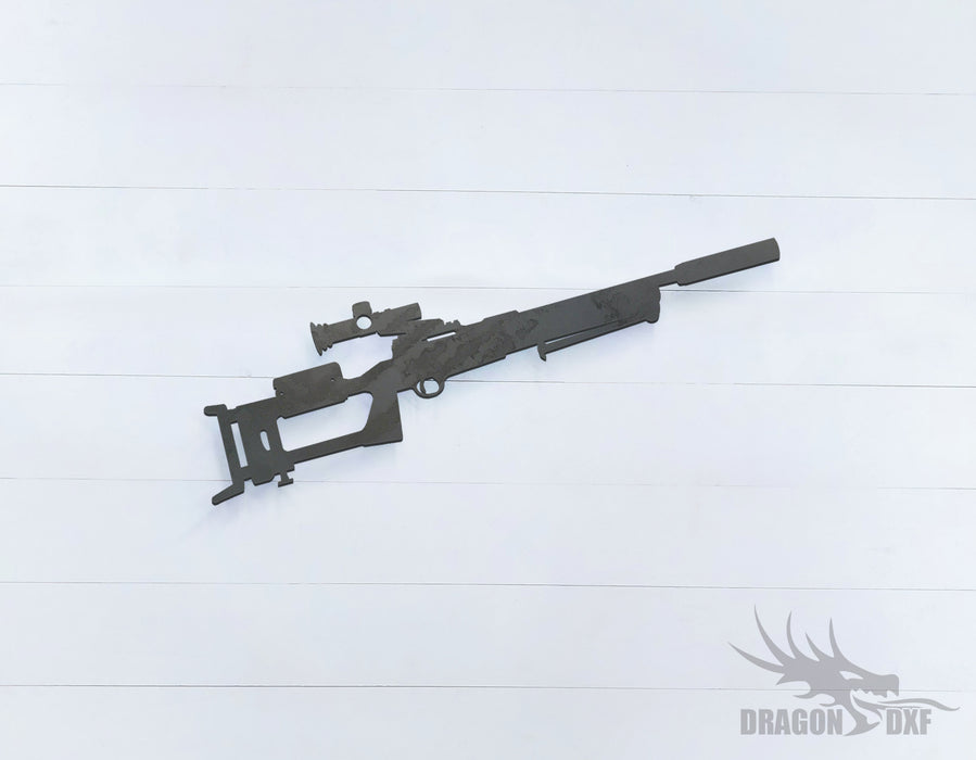 Sniper Rifle-14 - DXF Download