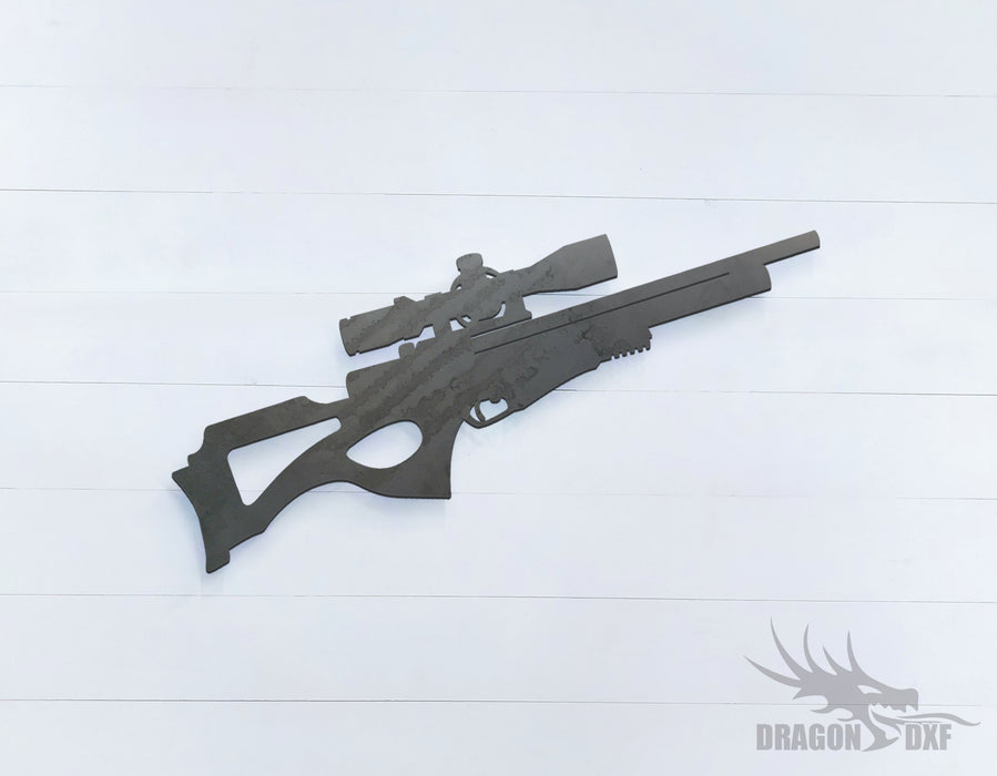 Sniper Rifle-17 - DXF Download6