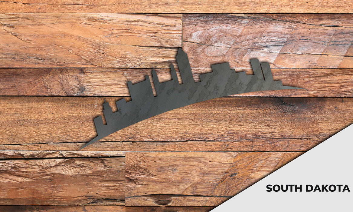 SOUTH DAKOTA Cityscape - Downtown Sioux Falls Silhouette - DXF Download
