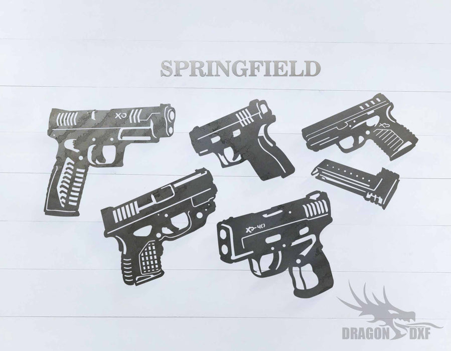 Springfield Pistol Design Package  - DXF Download