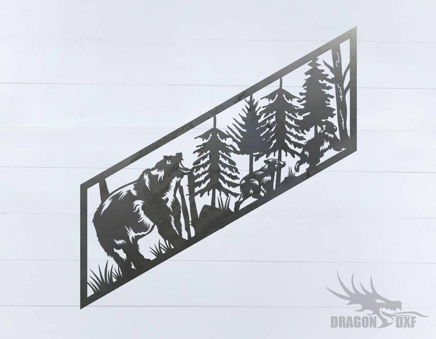 Staircase Bear designs 1 - DXF Download