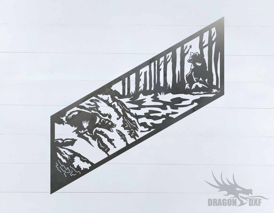 Staircase Bear designs 2 - DXF Download