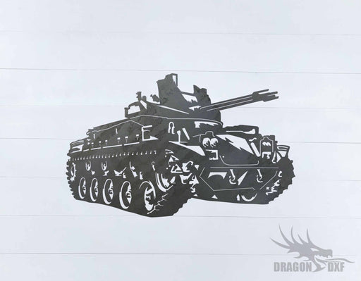 Tank Design 2 - DXF Download
