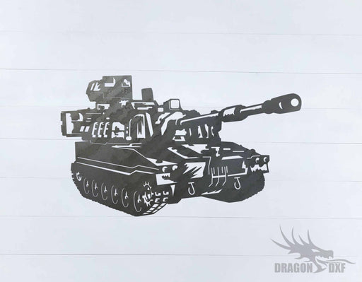Tank Design 3 - DXF Download