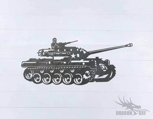 Tank Design 4 - DXF Download