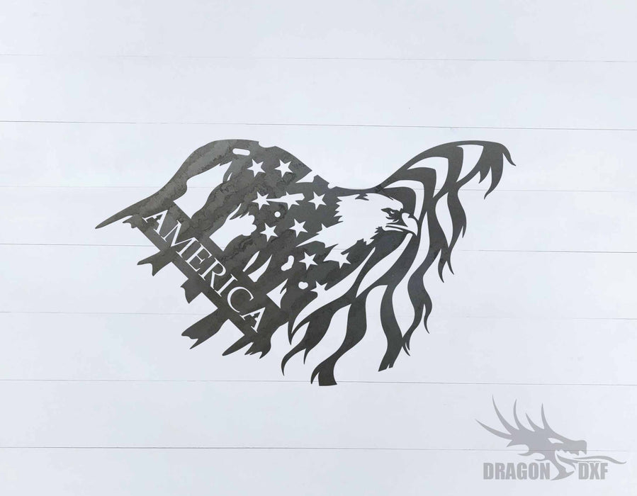 Tattered Flag Design 10 - DXF Download