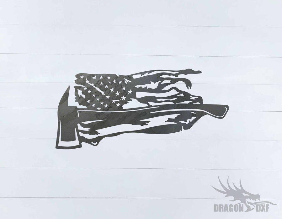 Tattered Flag Design 13 - DXF Download