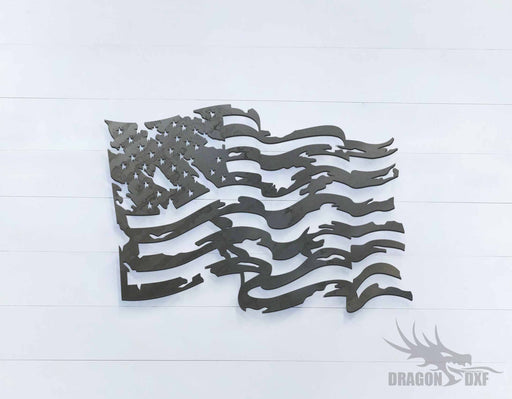 Tattered Flag 1 - DXF Download
