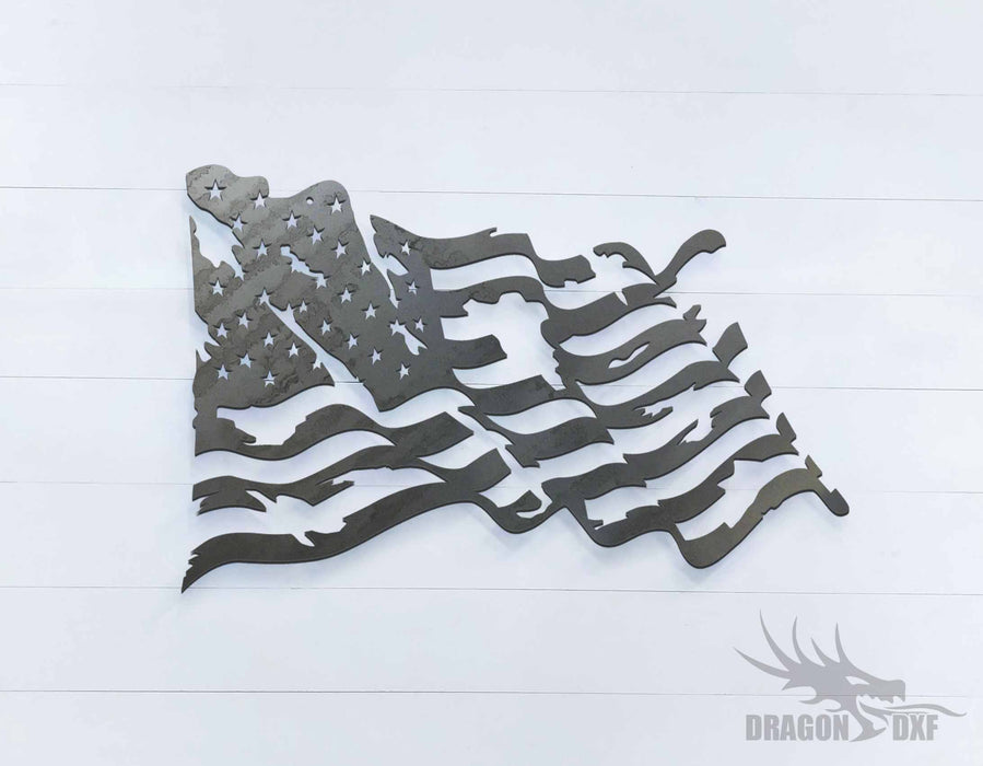 Tattered Flag 2- DXF Download