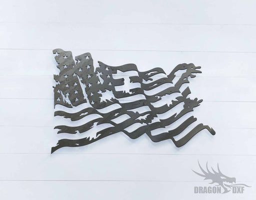 Tattered Flag 4 - DXF Download