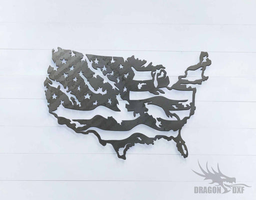 Tattered Flag 5 - DXF Download