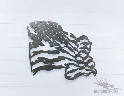 Tattered Flag 6 - DXF Download