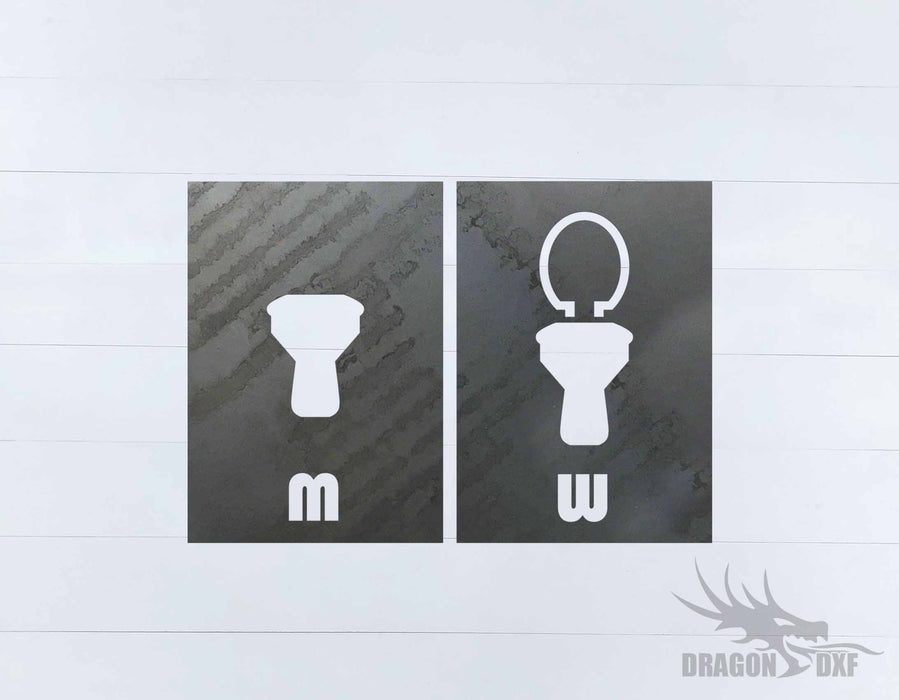 Toilet Sign-MW 1 - DXF Download