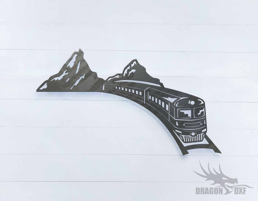 Train and Mountain 1 - DXF Download