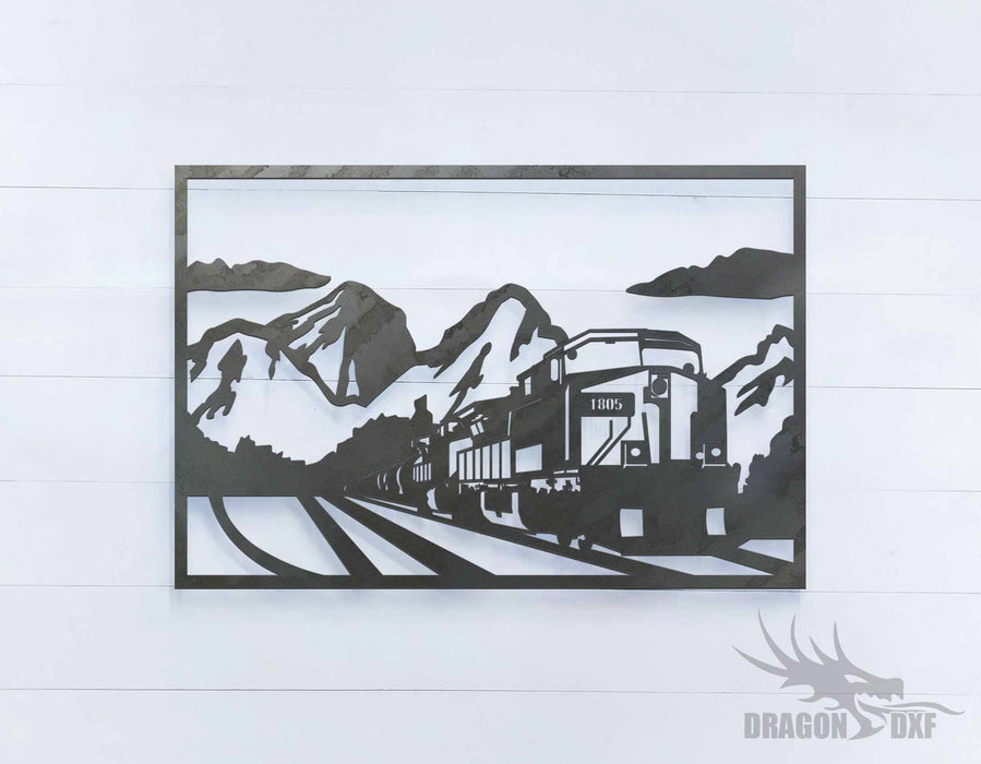 Train and Mountain 2 - DXF Download