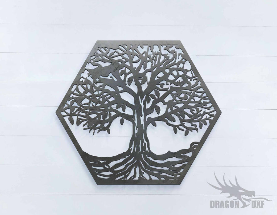 Tree of Life - Hexagon - DXF Download