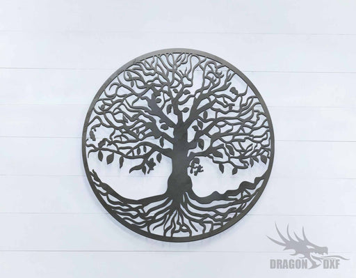 Tree of Life - Round - DXF Download