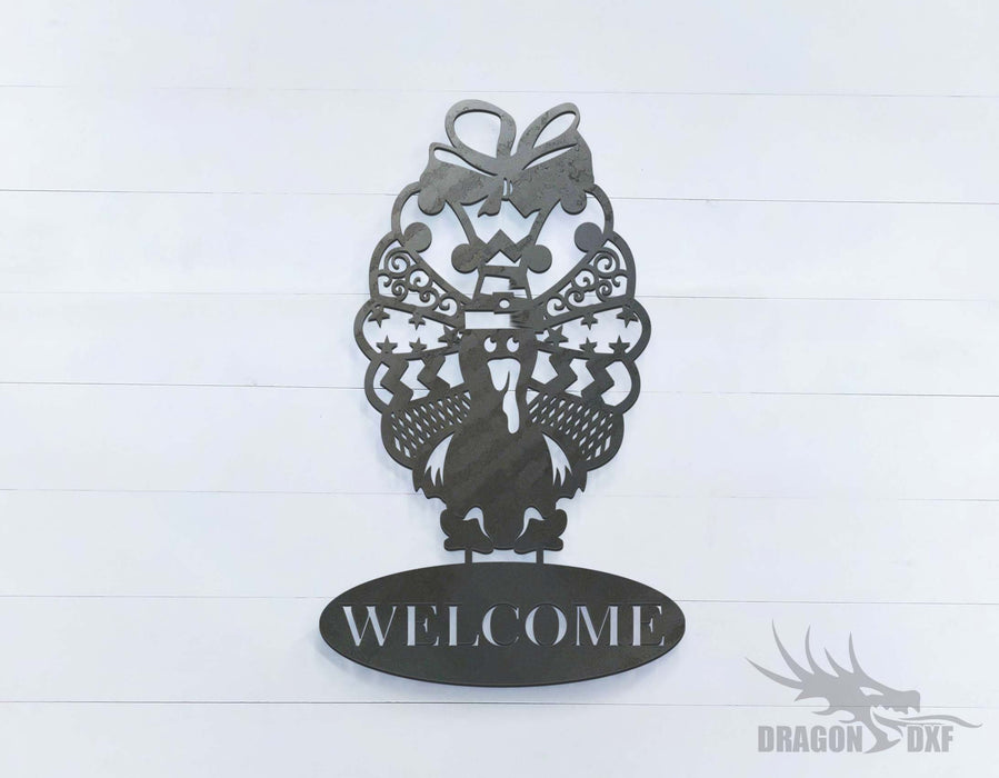 Turkey  Welcome Sign - DXF Download
