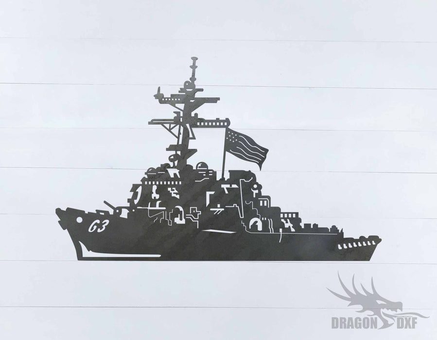 Warship Design 16 - DXF Download
