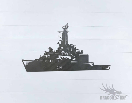 Warship Design 5 - DXF Download