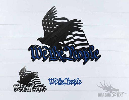 We The People Eagle and Flag 4 - DXF Download