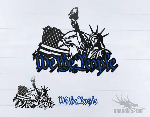 We The People Eagle and Flag 5 - DXF Download