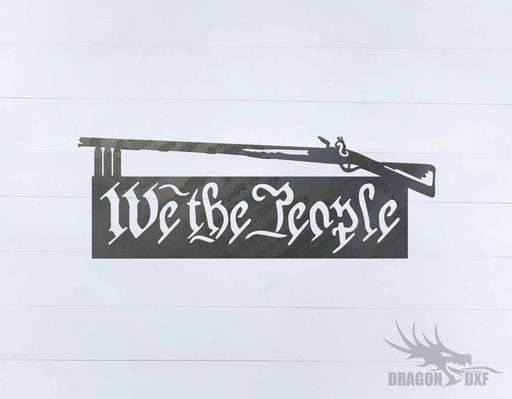 We The People Gun 1 - DXF Download