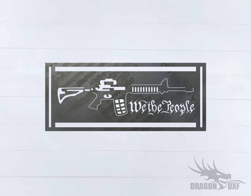 We The People Gun 2 - DXF Download