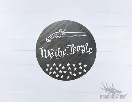We The People Gun 3 - DXF Download