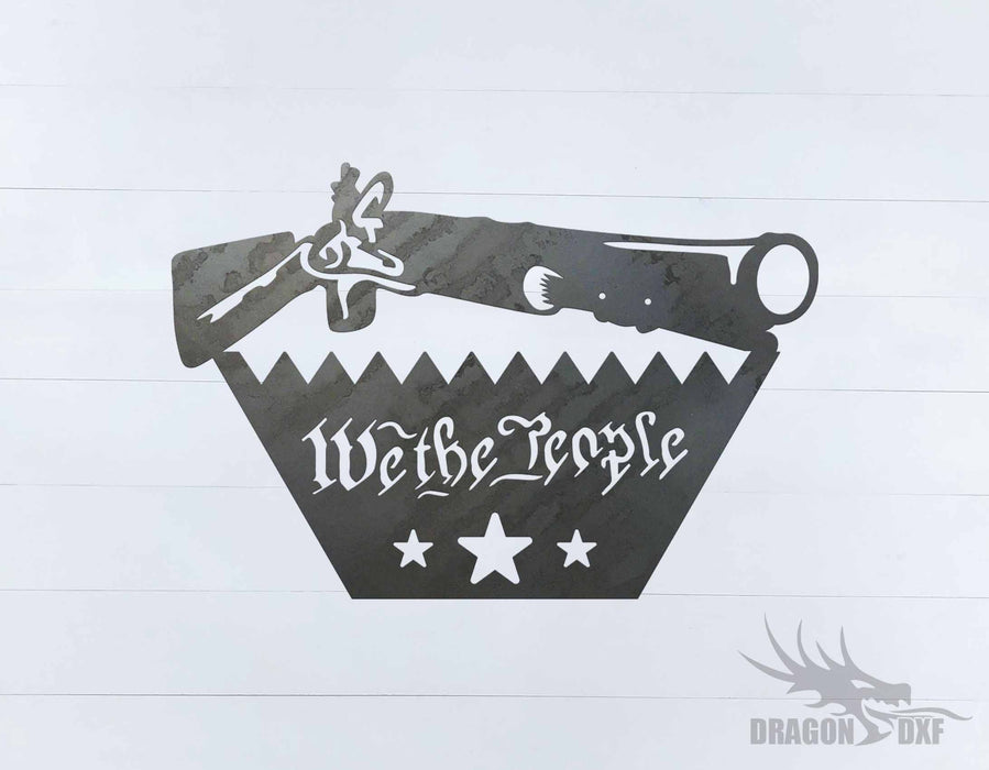 We The People Gun 5 - DXF Download