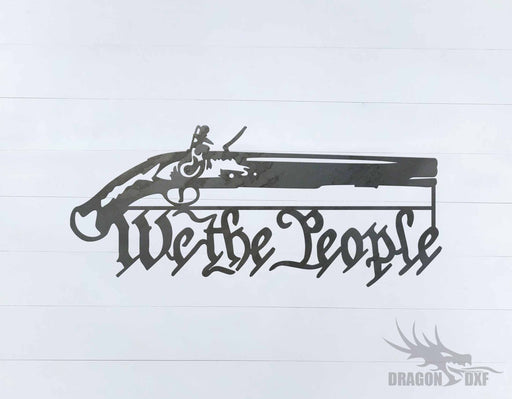 We The People Gun 6 - DXF Download