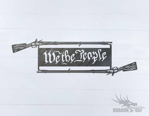 We The People Gun 7 - DXF Download