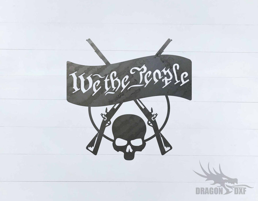 We The People Gun 8 - DXF Download