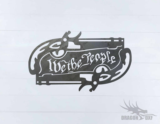 We The People Gun 9 - DXF Download