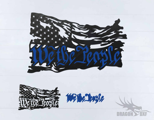We the People - Tattered Flag 5 - DXF Download