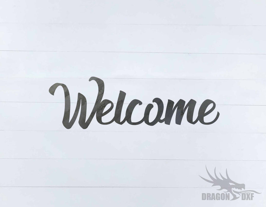 Welcome Design 3 - DXF Download