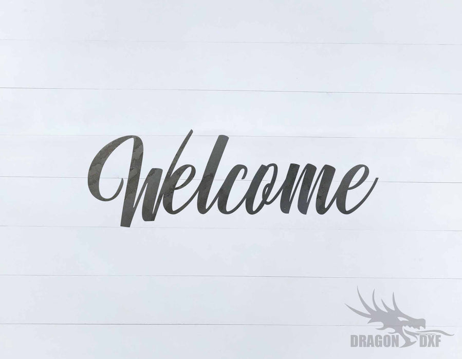 Welcome Design 4 - DXF Download