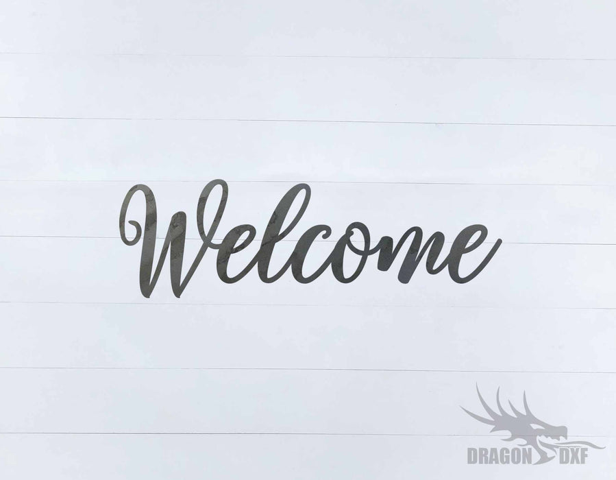 Welcome Design 5 - DXF Download