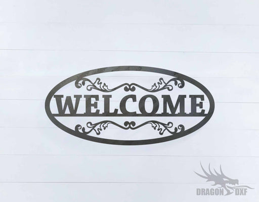 Welcome Sign 11 - DXF Download