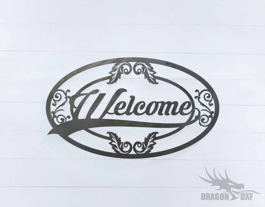 Welcome Sign 12 - DXF Download