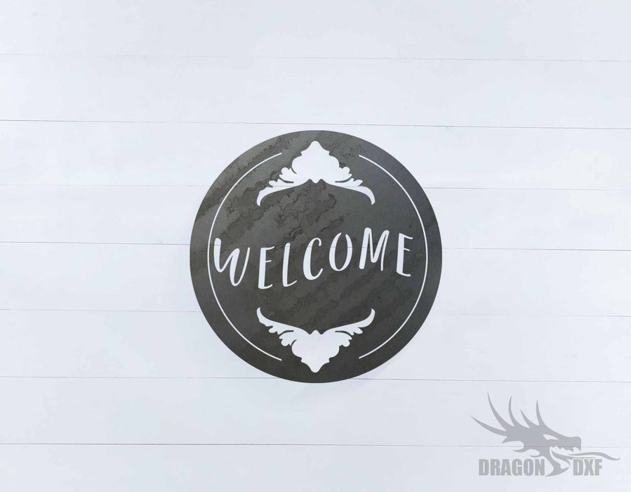 Welcome Sign 19 - DXF Download