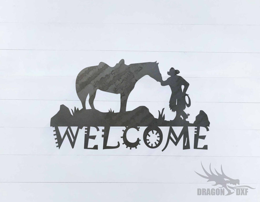 Welcome Sign 22 - DXF Download