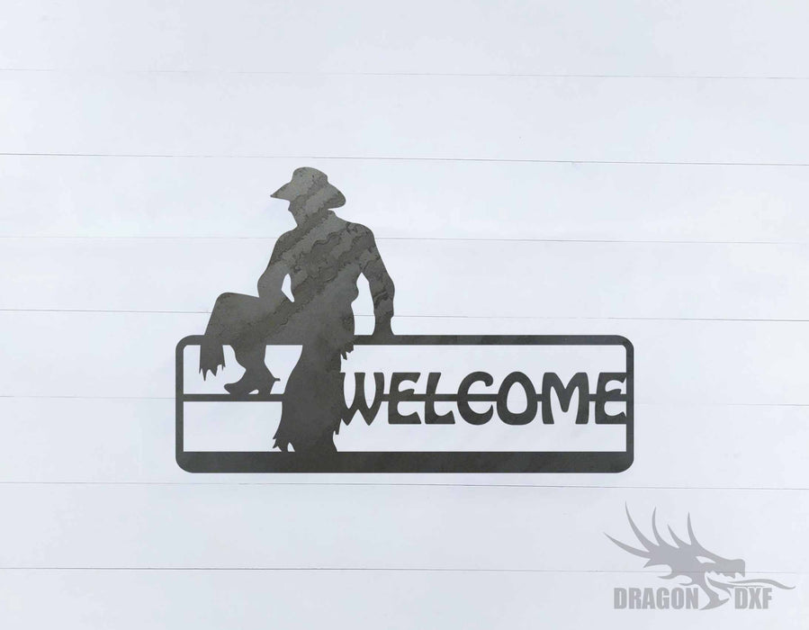 Welcome Sign 23 - DXF Download